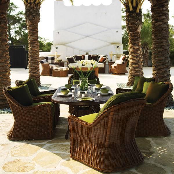 Sedona Wicker Dining Set by Summer Classics | Free Shipping