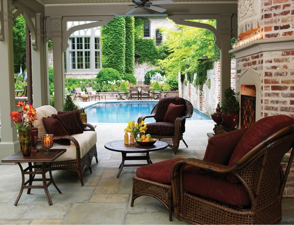 Tuscany Deep Seating Wicker Patio Set Summer Classics