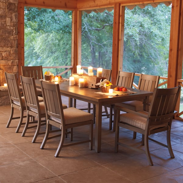 Croquet Dining Patio Set Collection By Summer Classics