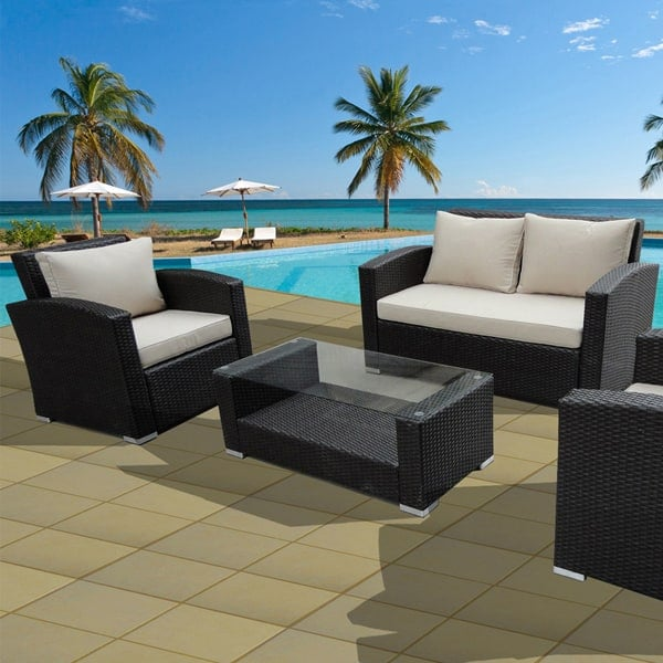 Florida Keys Wicker Patio Set