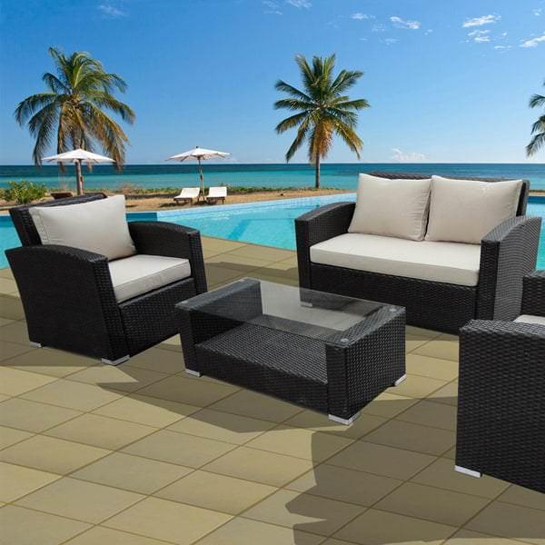 Florida Keys Wicker Patio Set