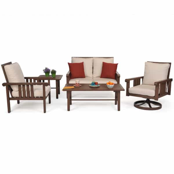 The Castille Deep Seating Patio Set by Leisure Select