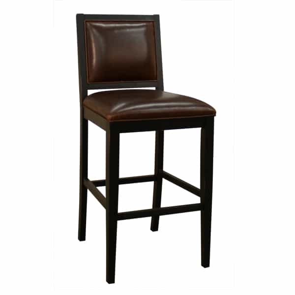 Bryant Antique Black Set Of 2 Bar Stools By American