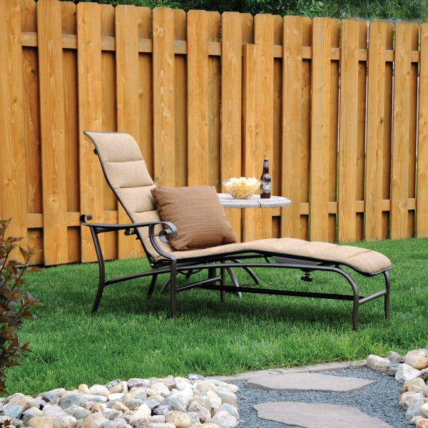 Pasadena self adjusting chaise lounge by homecrest outdoor for Pasadena outdoor furniture