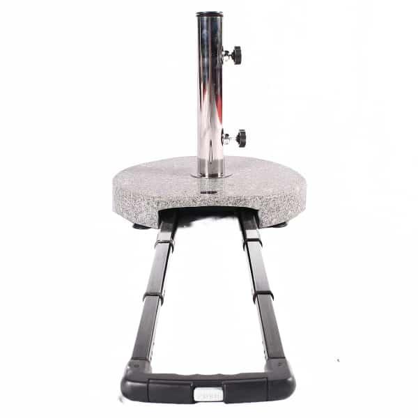 Umbrella Stand Accessories: Granite Umbrella Stand W/ Handle & Wheels