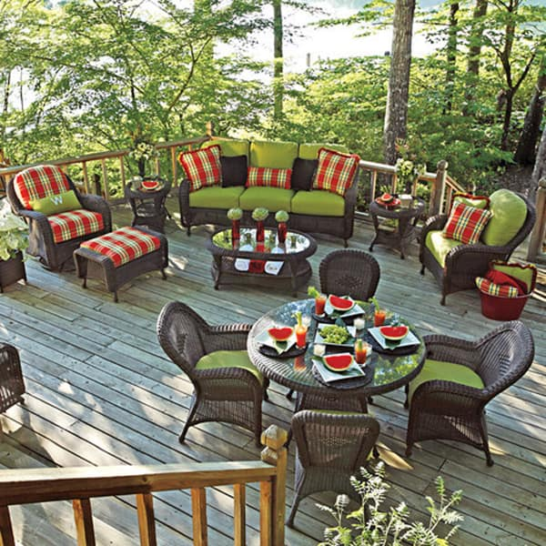 Classic Dining Wicker Patio Furniture By Summer Classics