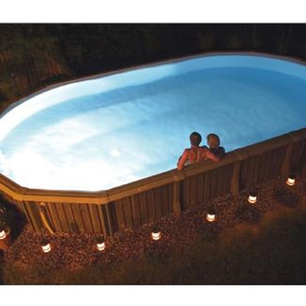 Nitelighter 50 watt underwater light for above ground for Above ground pool lighting ideas