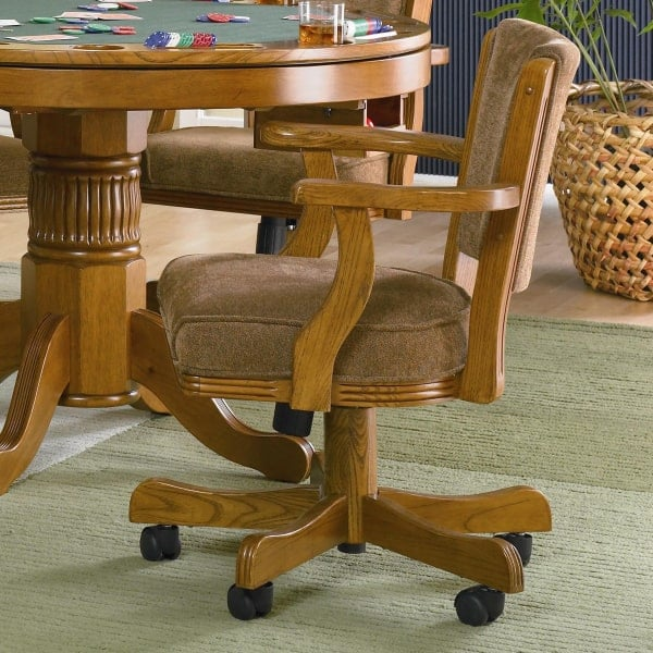 ... New Rochelle - Oak by Leisure Select & New Rochelle - Oak Three in One Game Table Set