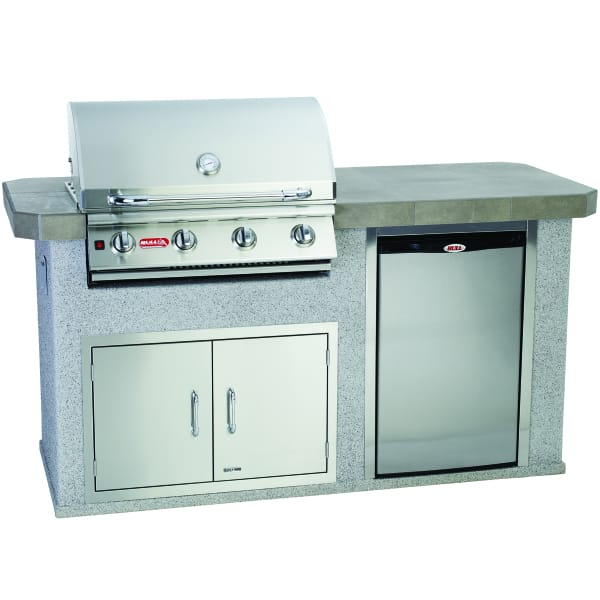 Power Q Grill Island Stucco