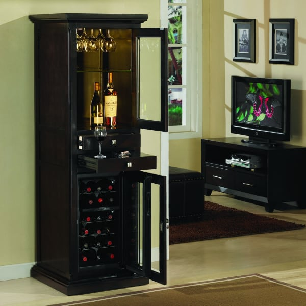 Meridian espresso by tresanti wine spirits cabinets for Meridian cabinets