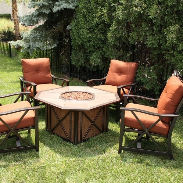 Haywood Fire Pit Set by Agio Select