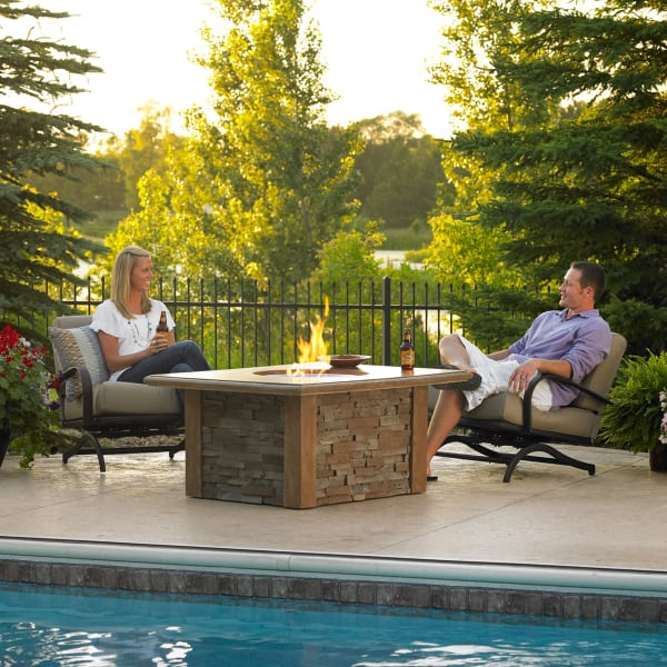 ... Sierra Fire Pit Table   Round Burner By Outdoor GreatRoom ...
