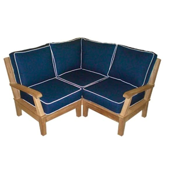 Miami Outdoor Furniture : Miami Teak Sectional by Royal Teak Collection