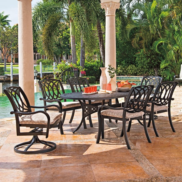 Ocala Cast Aluminum Dining Collection by Telescope Casual