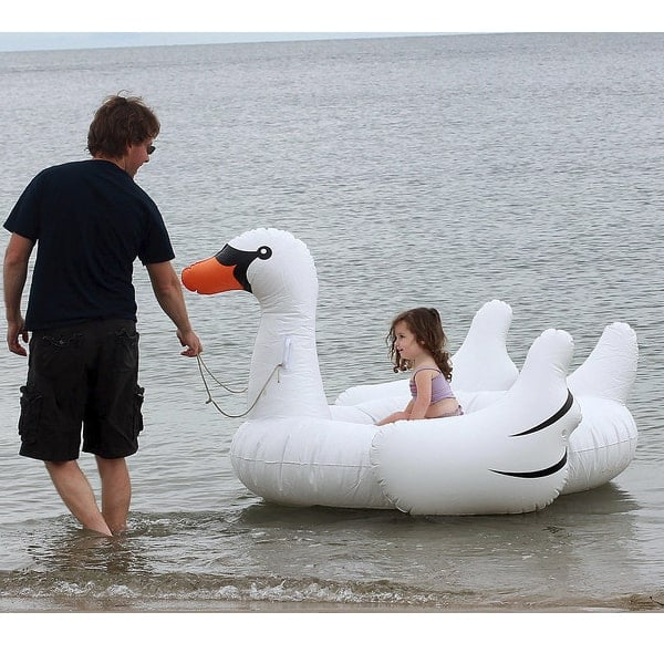 Giant Ride On Inflatable Swan