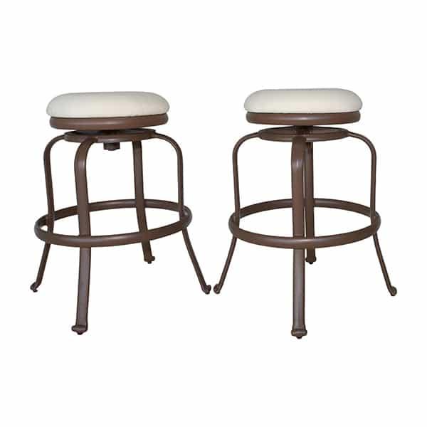 Tiki Bar Backless Barstool Set Of 2