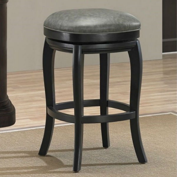 Madrid Backless Stool Charcoal