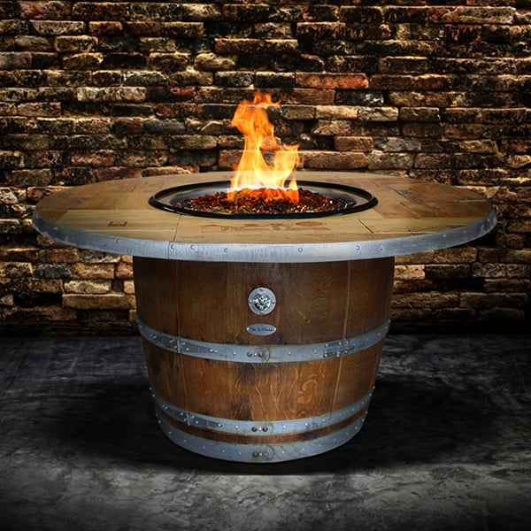 The Enthusiast Wine Barrel Fire Pit Table