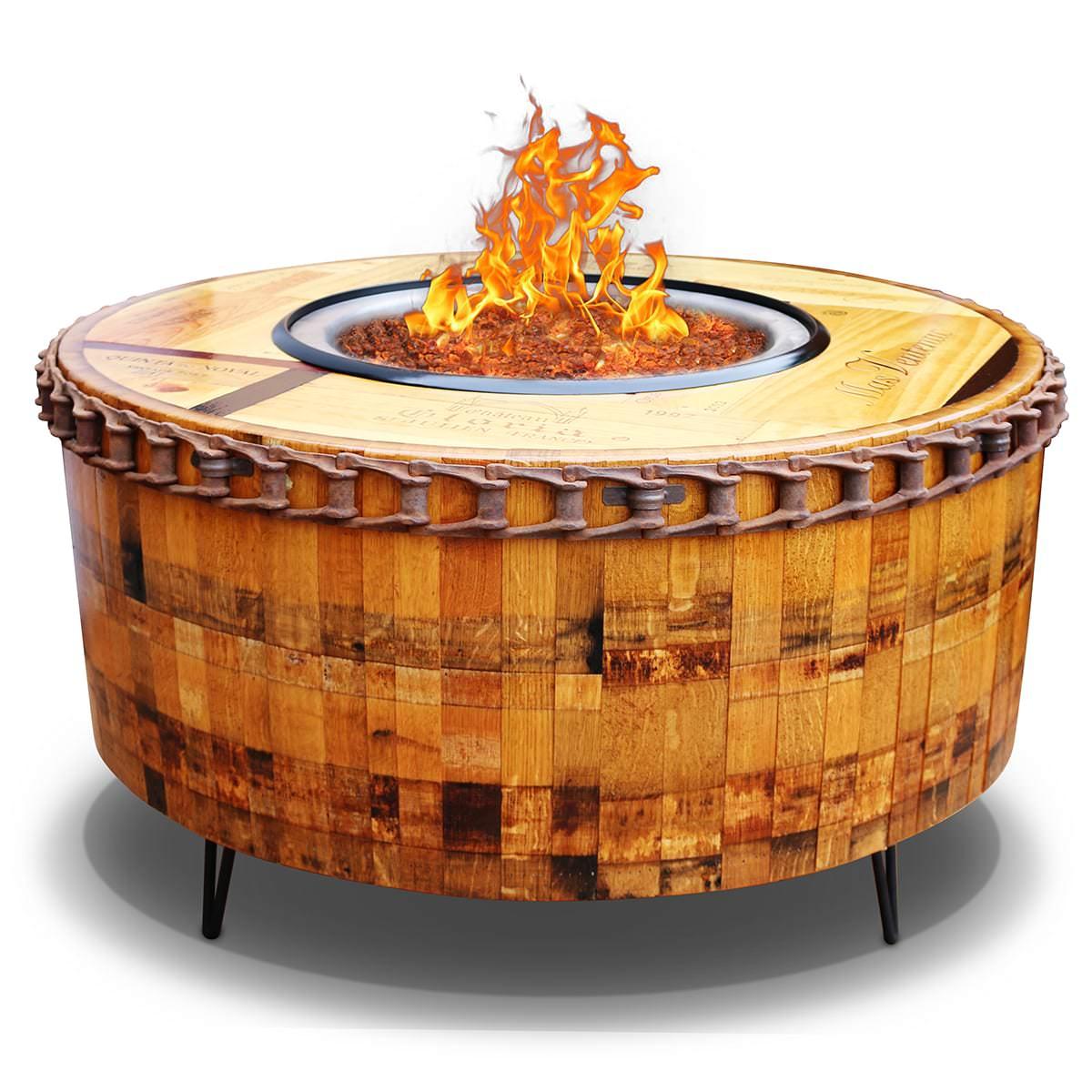 Moderna Wine Barrel Fire Pit Table