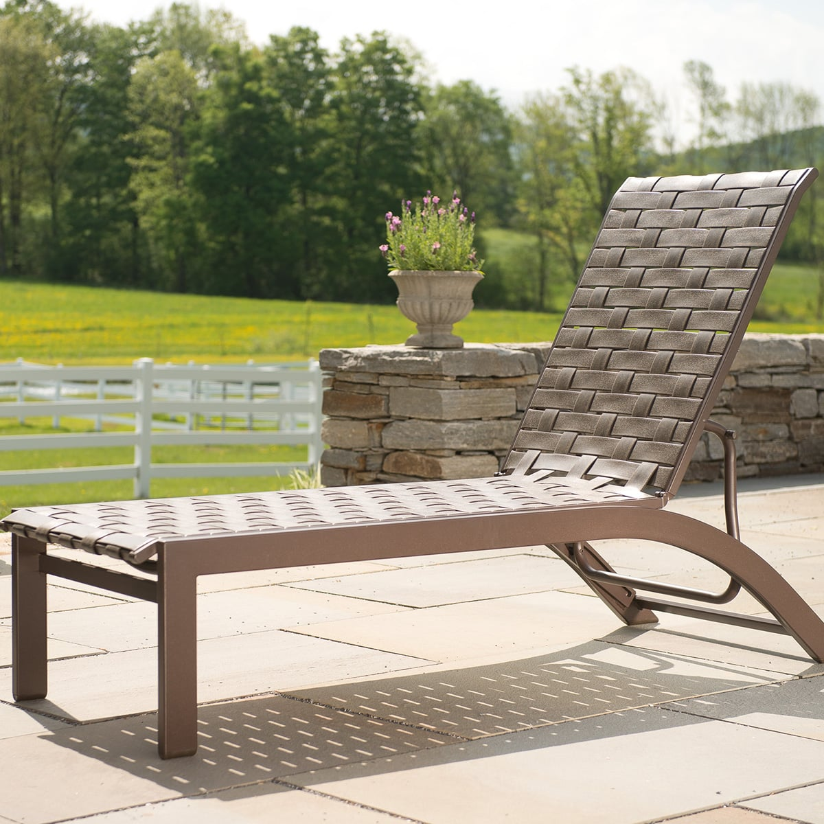 Kendall Cross Strap Chaise Lounge