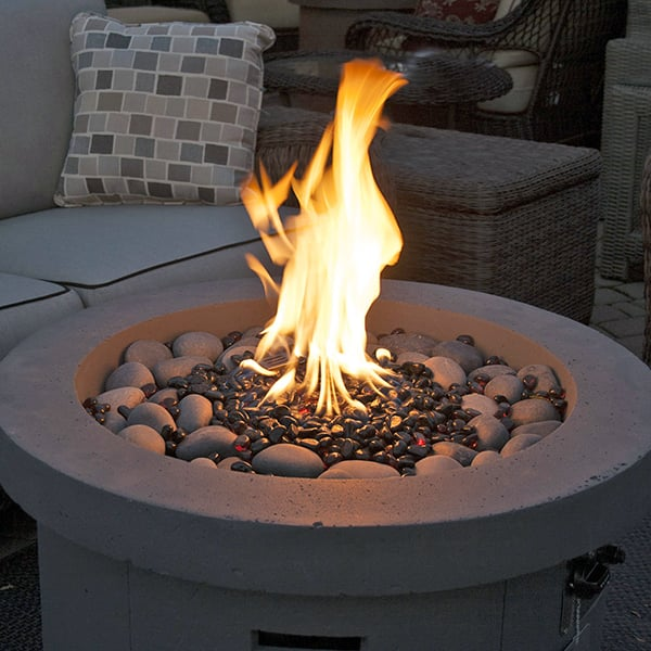 Urban Series Storm Grey Fire Pit Led