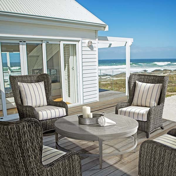 belfort chat height woven all weather wicker style seating. Black Bedroom Furniture Sets. Home Design Ideas