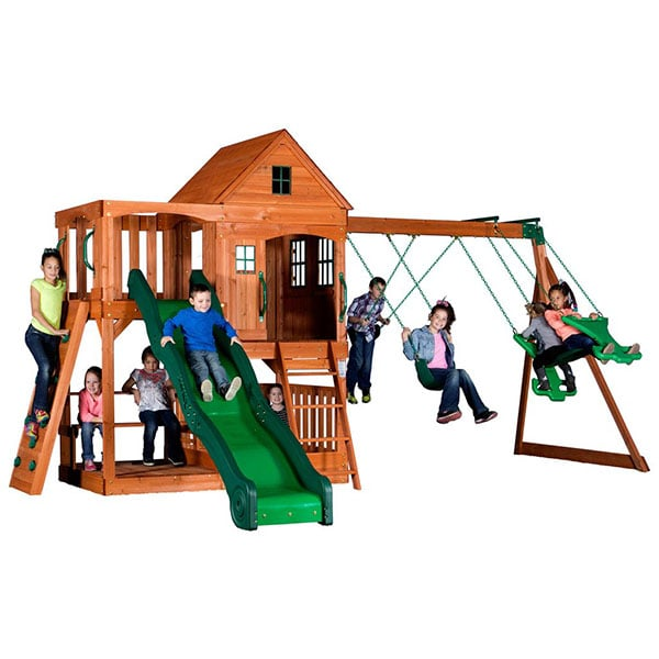 Pacific View Swing Set By Backyard Discovery