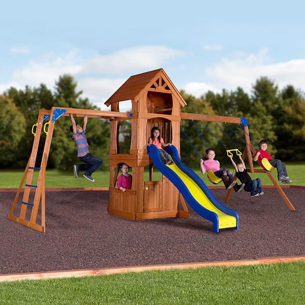 parkway swing set by backyard discovery family leisure