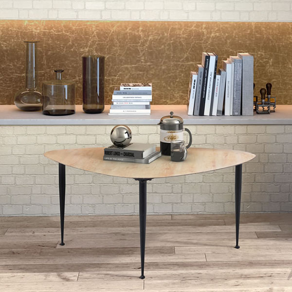 Distressed Natural Wood Coffee Table: Barber Coffee Table Distressed Natural
