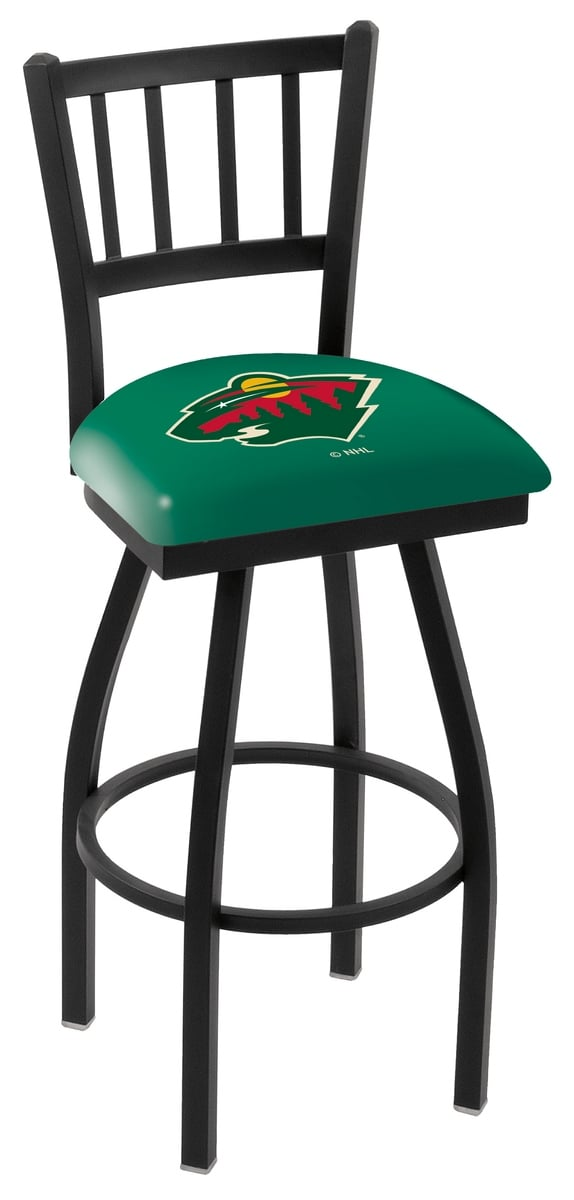 Minnesota Wild Bar Stool W Official Nhl Logo Family Leisure
