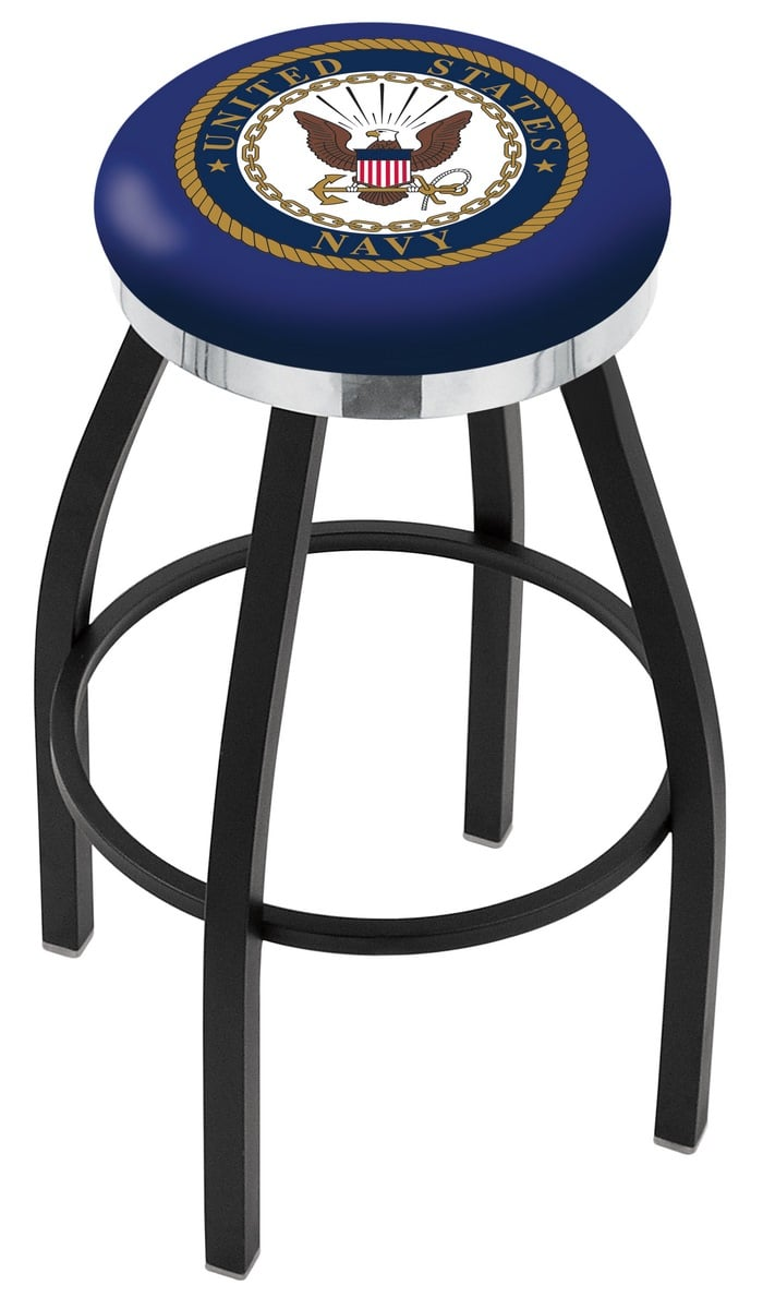 U S Navy Counter Height Bar Stool W Official Military