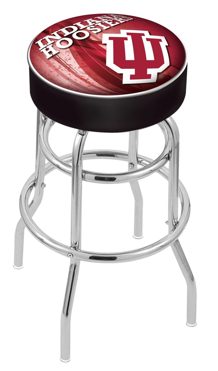 Indiana Counter Height Bar Stool W Official College Logo