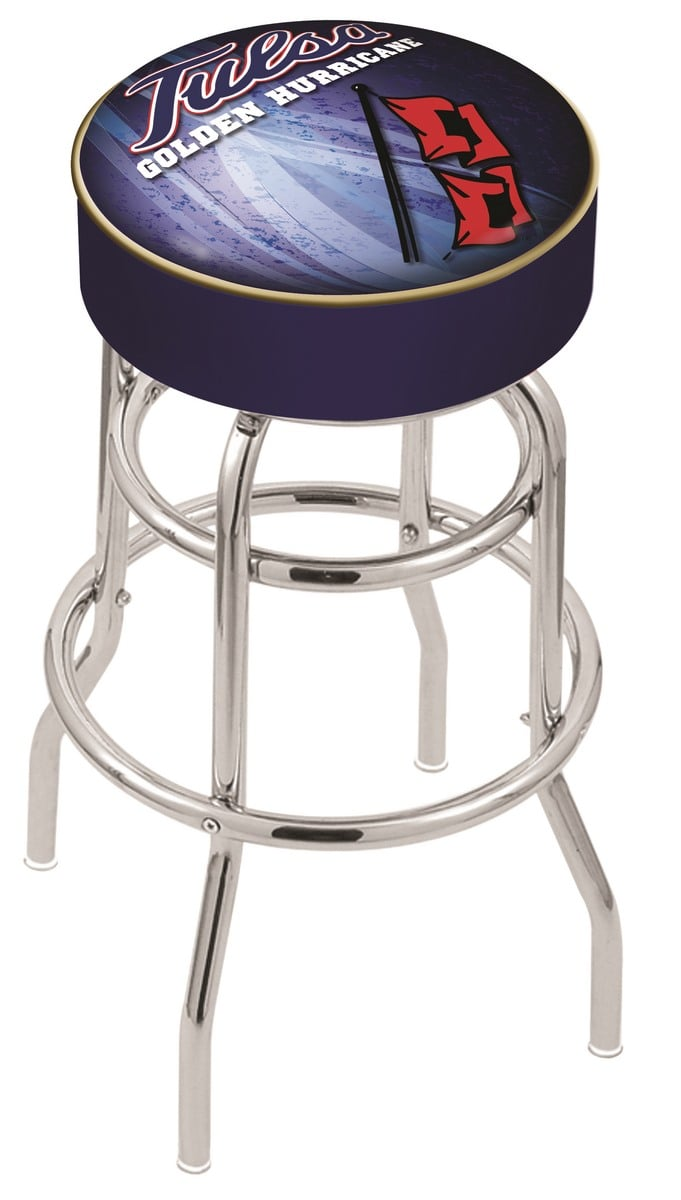 Tulsa Counter Height Bar Stool W Official College Logo Family Leisure
