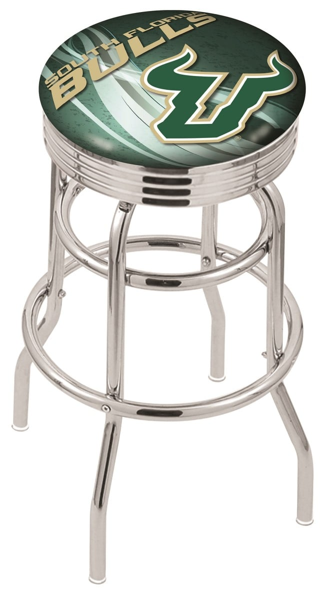 South Florida Bar Stool w Official College Logo Family  : L7C3CSouFla D2xw9f 6b from www.familyleisure.com size 662 x 1200 jpeg 68kB