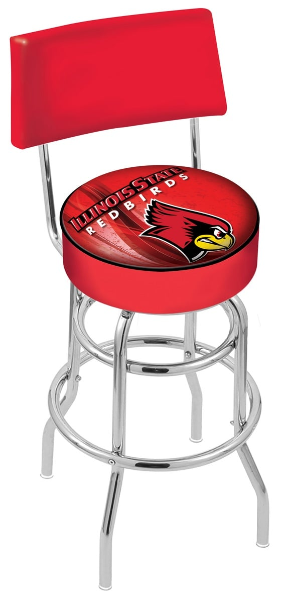 Illinois State Bar Stool W Official College Logo Family