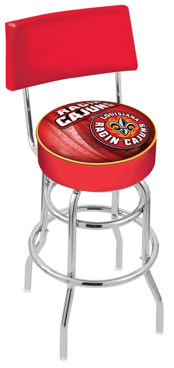 Louisiana Lafayette Bar Stool W Official College Logo