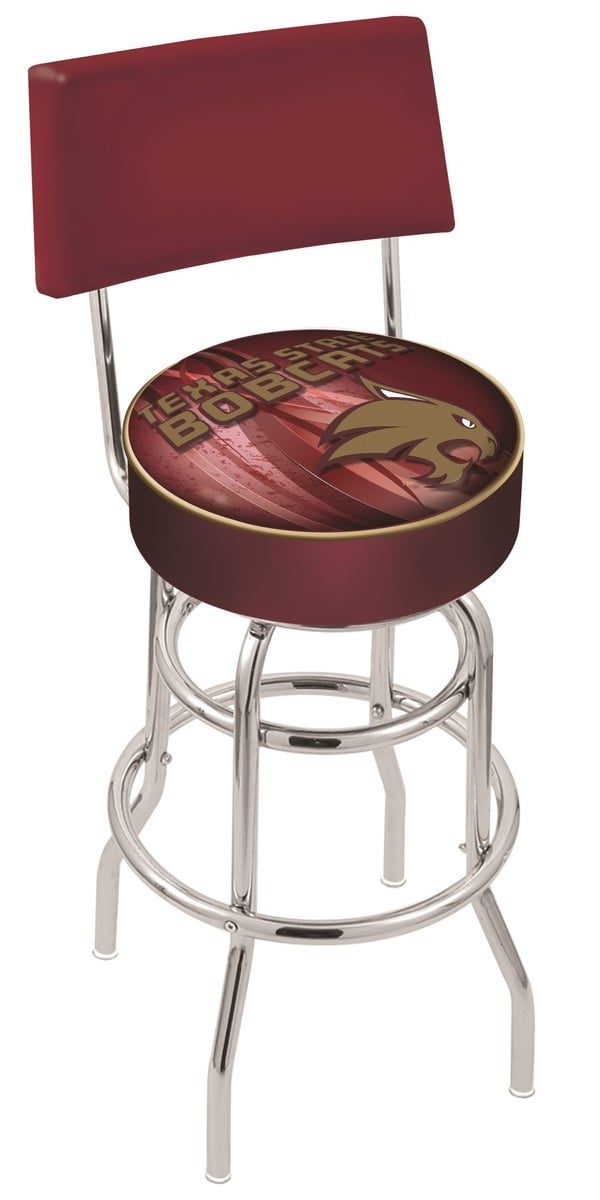 Texas State Bar Stool W Official College Logo Family