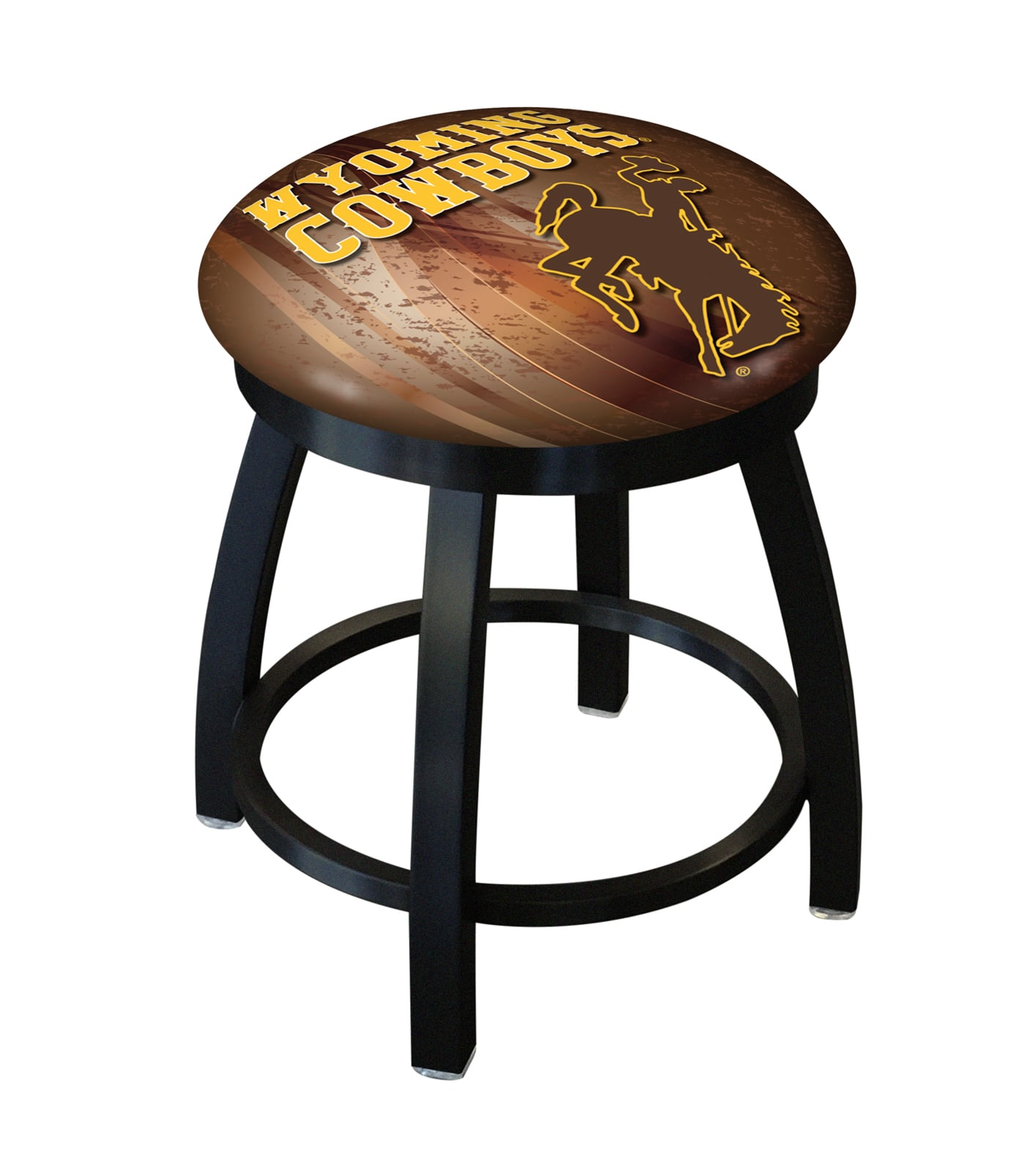 Wyoming 18 Quot Stool W Official College Logo Family Leisure