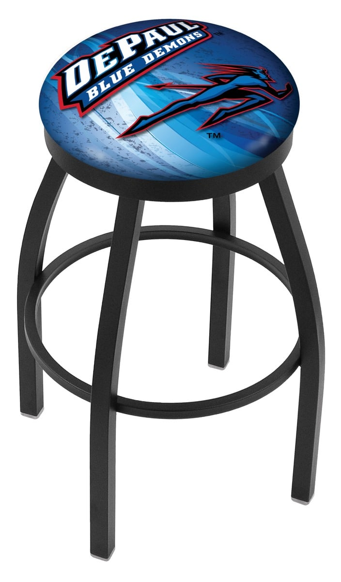 Depaul Bar Stool W Official College Logo Family Leisure