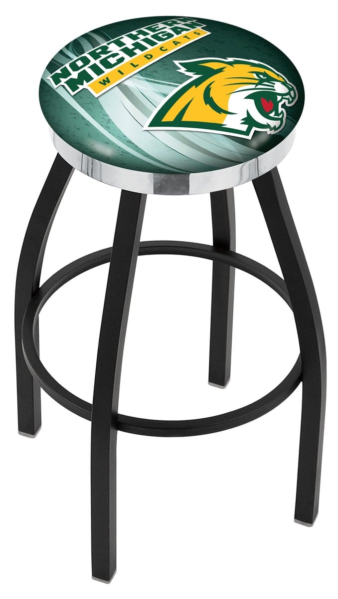 Northern Michigan Bar Stool w Official College Logo  : L8B2CNorMic D27wp2 ry from www.familyleisure.com size 678 x 1200 jpeg 71kB