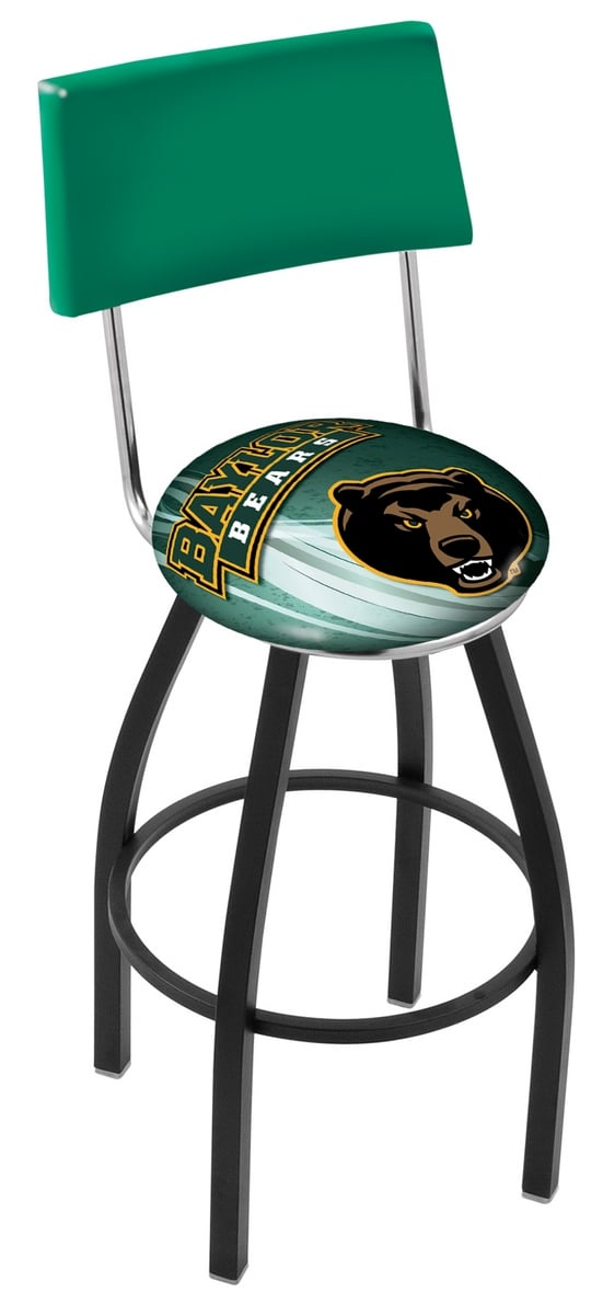 Baylor Bar Stool W Official College Logo Family Leisure