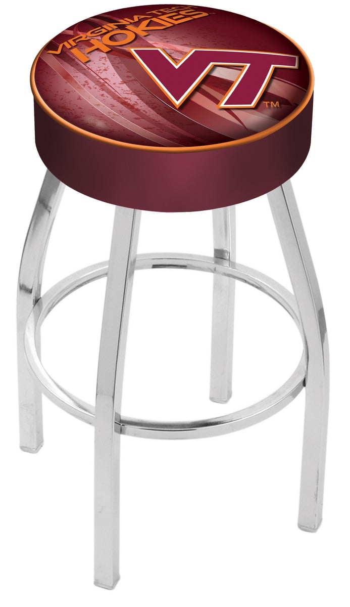 Virginia Tech Bar Stool W Official College Logo Family