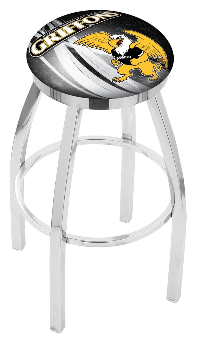 Missouri Western State Bar Stool W Official College Logo