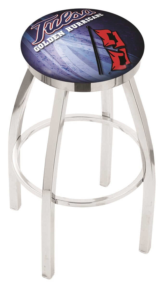 Tulsa Bar Stool W Official College Logo Family Leisure