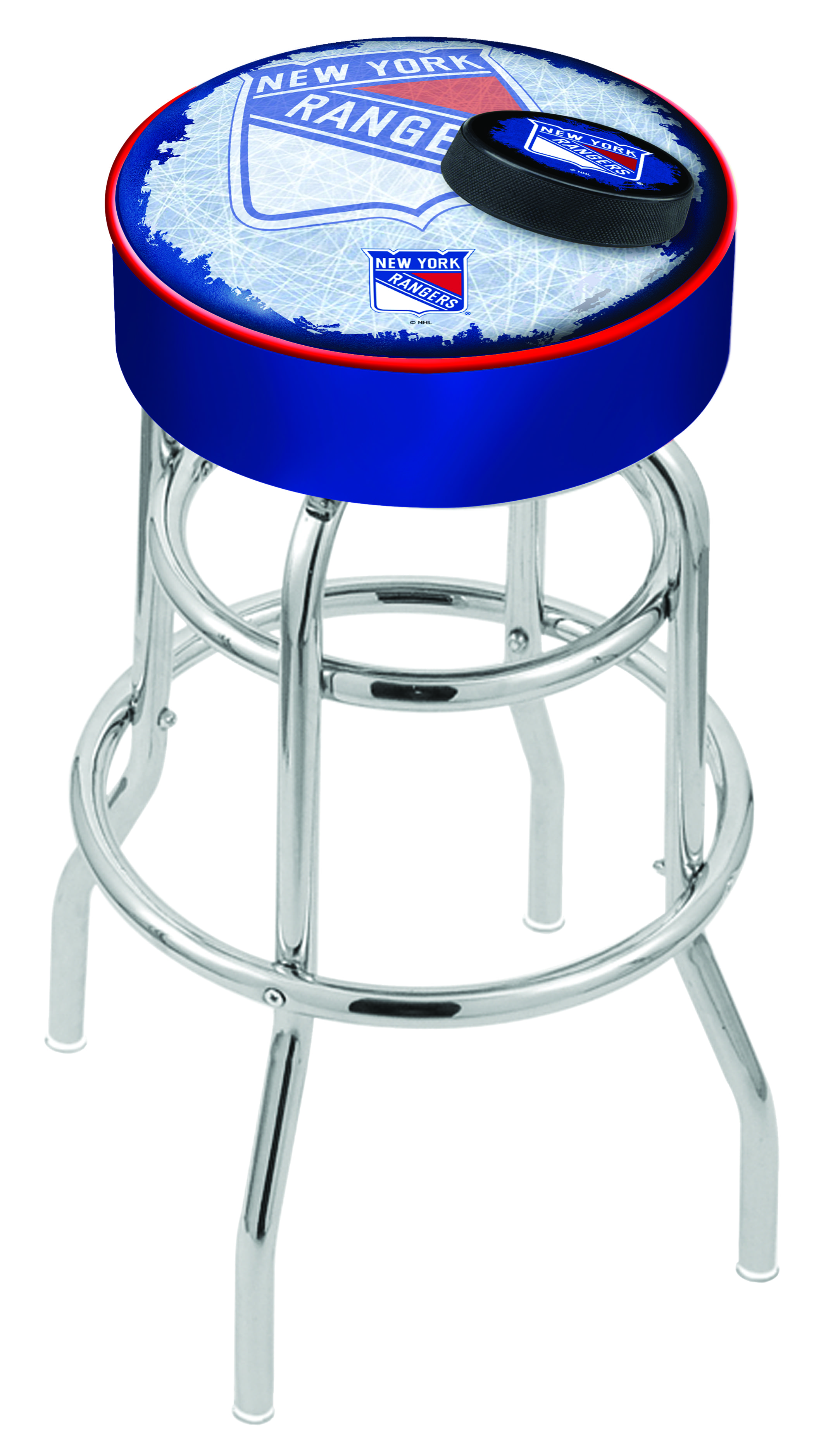 New York Rangers Counter Height Bar Stool W Official Nhl
