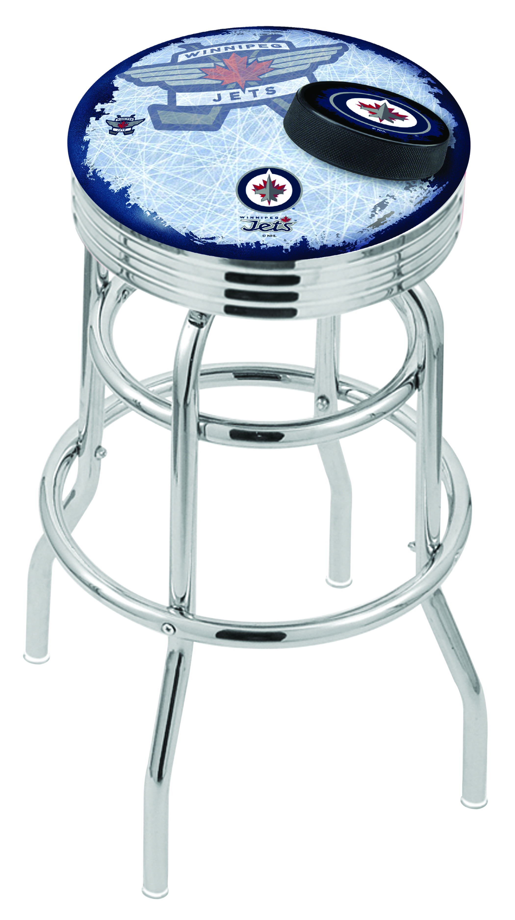 Winnipeg Jets Counter Height Bar Stool W Official Nhl Logo Family Leisure