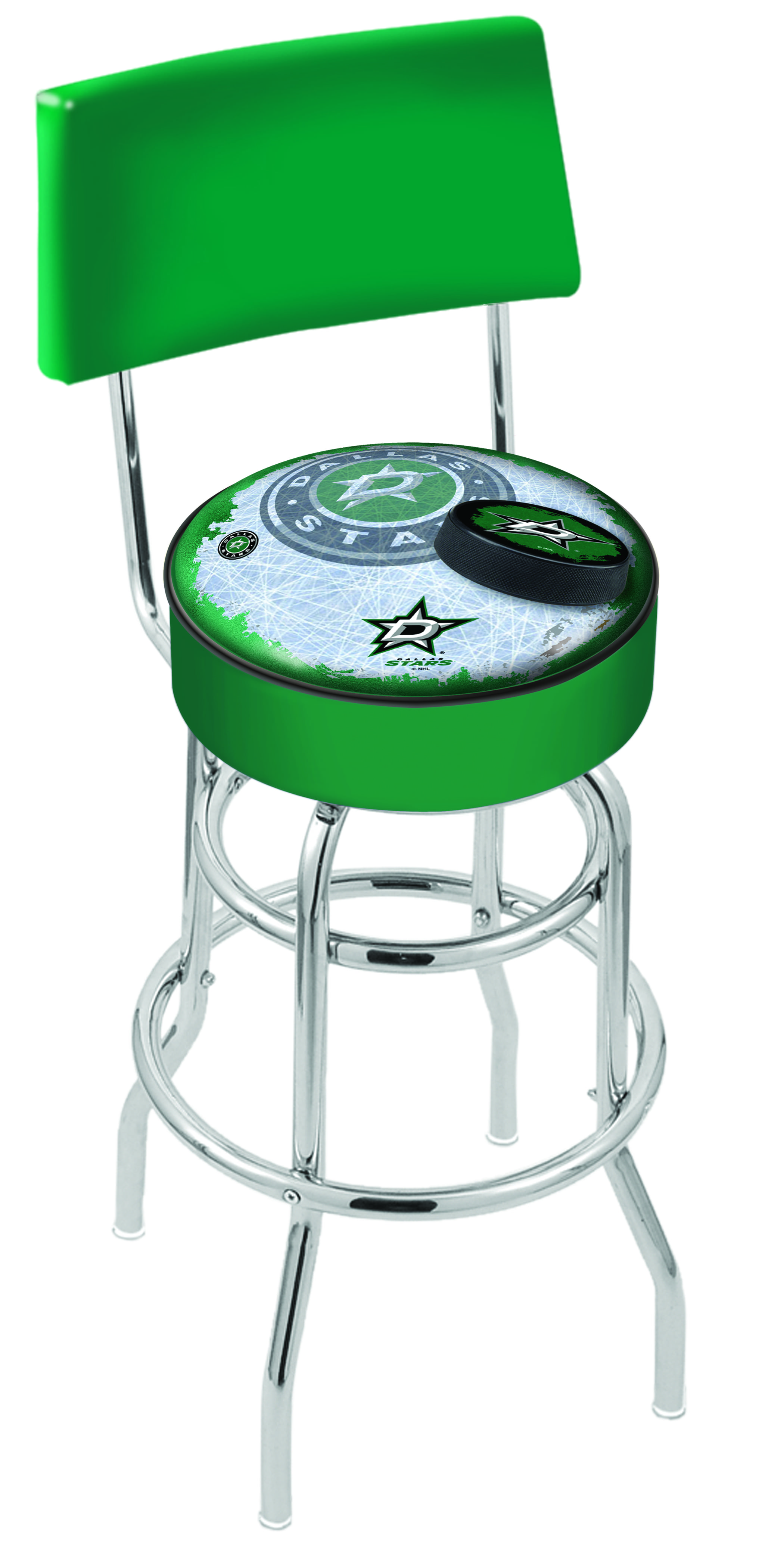Dallas Stars Bar Stool W Official Nhl Logo Family Leisure