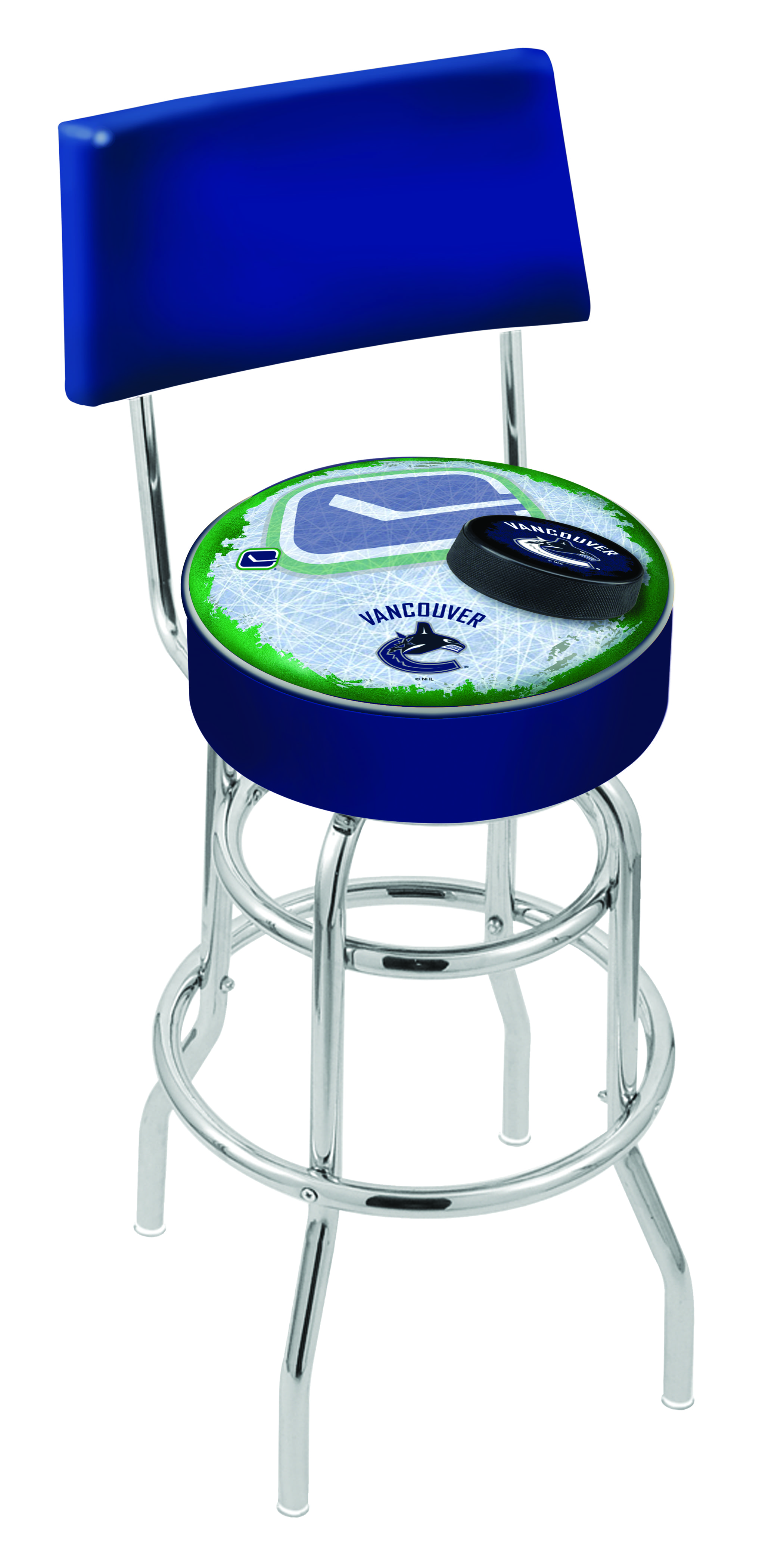Vancouver Canucks Bar Stool W Official Nhl Logo Family