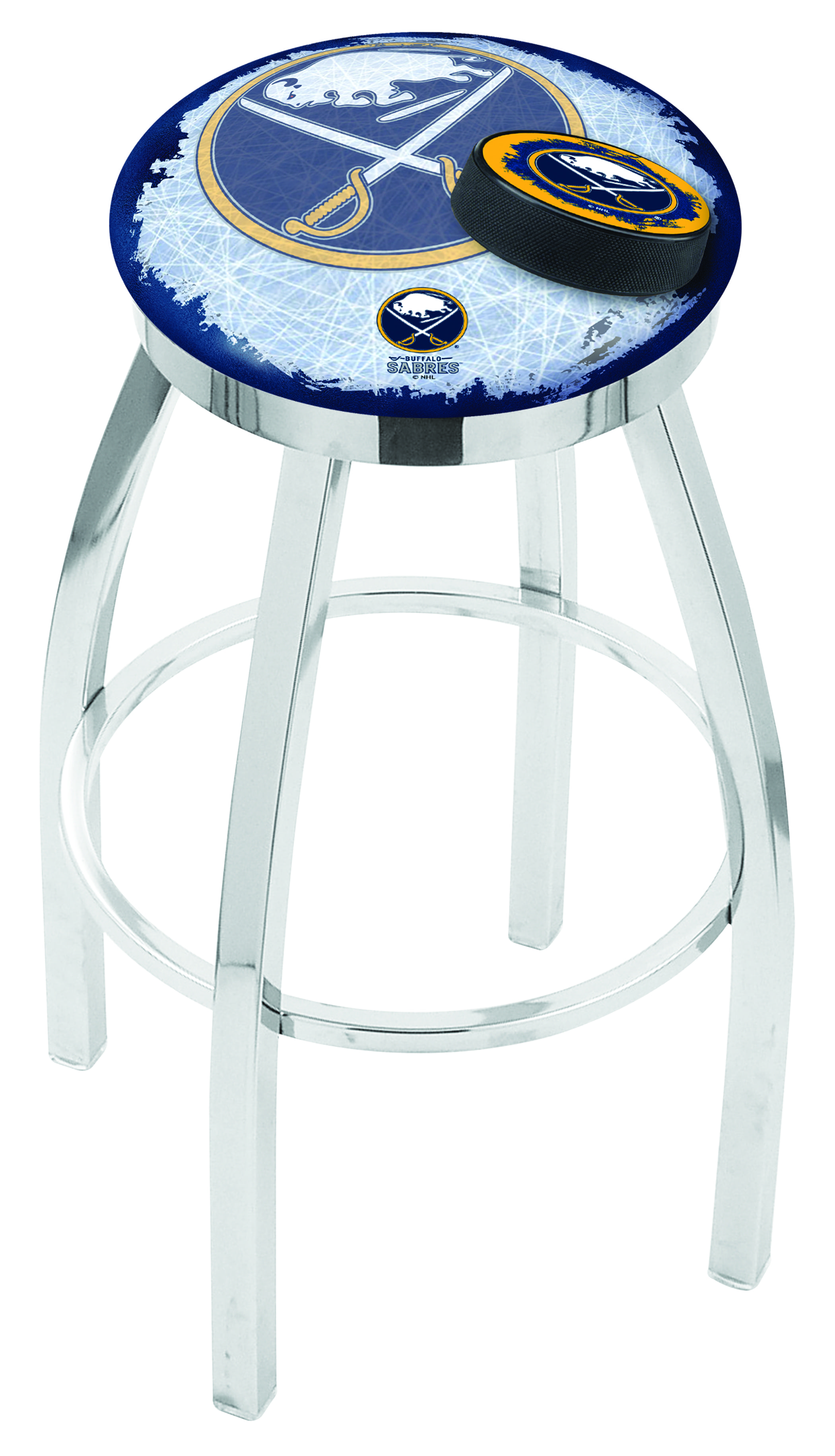 Buffalo Sabres Bar Stool W Official Nhl Logo Family Leisure