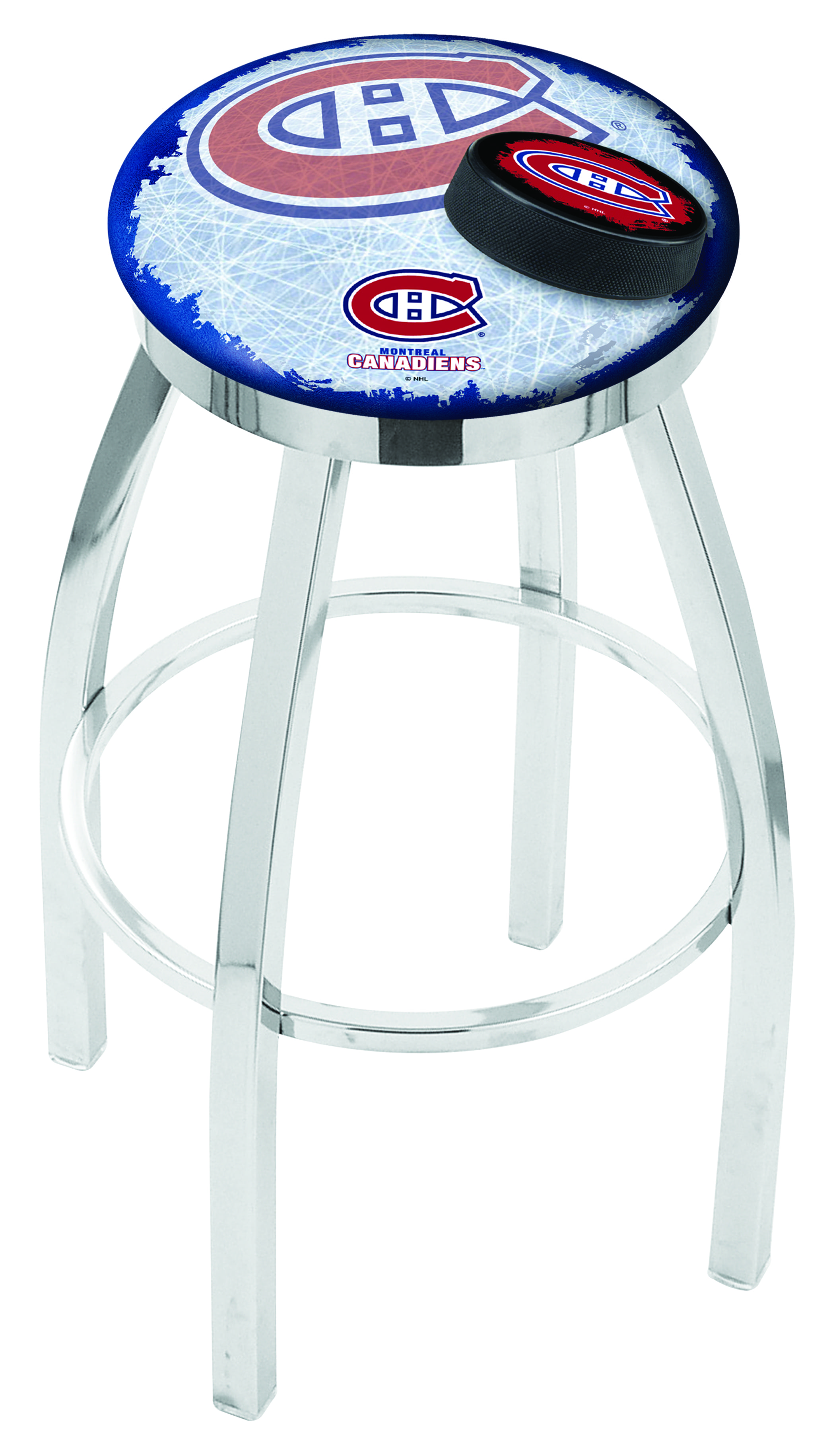 Montreal Canadiens Bar Stool W Official Nhl Logo Family
